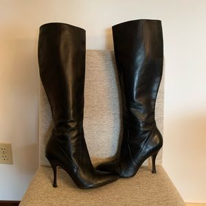 Via Spiga Black Leather Boots~Size 8